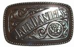 Jack Daniel's Rodeo Officially Licensed Belt Buckle + display stand. Code DA3